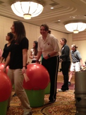 Playing with yoga ball rhythms at a NYS AHPERD conference session